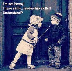 Feeling a little bossy today :p I'm not bossy! I have skills ... leadership skills!! Understand? #entrepreneur #womeninbiz