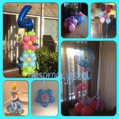Kinder verjaardag ballonnen decoratie verzorgt door de versierders van sprookjesbol! Bunschoten Spakenburg