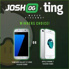 JoshOG - Win an Apple iPhone 7 or Samsung Galaxy S7 Edge - http://sweepstakesden.com/joshog-win-an-apple-iphone-7-or-samsung-galaxy-s7-edge/