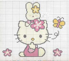Patron punto cruz Hello Kitty - Imagui