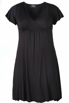 YoursClothing Women's Plus Size Cross over Wrap Tunic