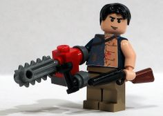 Lego Ash from The Evil Dead Bruce Campbell Evil Dead, Ash Evil Dead, Lego Videos, Lego Games, Lego Man, Lego Military, Lego Figures, Nerd Love, Cool Lego