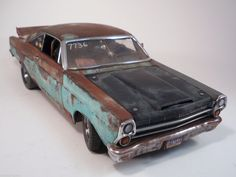 1967 Ford Fairlane Weathered Barn Find Patina Drag Car Rat Rod 1 18 Diecast GMP