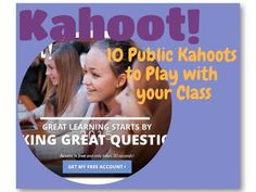 Kahoot - 10 Free Public Games     Kahoot is a game-based classroom response system Create and play quizzes discussions and surveys using any device with a web browser Motivate participation through game-based learning and rewards in a social setting  Students Love Kahoot! I know students love this game from the feedback I receive from other teachers and from my own experience with using Kahoot. Students ask me Can we please play Kahoot? For every game there is always lots of laughter and…