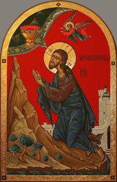 Christ in the Garden of Gethsemane Orthodox Icons, Spiritual Art, Byzantine Art, Crucifixion, Art, Catholic Art, Christian Art, Art Icon, Sacred Art