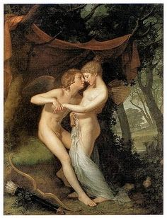 Southern Folk Artist & Antiques Dealer/Collector: Cupid and Psyche in the Nuptial Bower, 1792-1793 by Hugh Douglas Hamilton