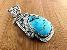 Pendant Sterling Silver Turquoise GUNDI D. Troutman (Image1)