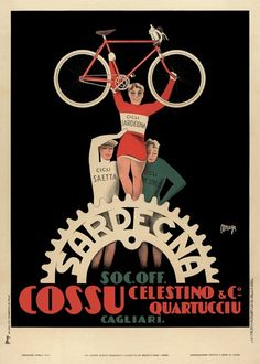 Sardegna Bicycle Poster 11x17 by BicyclePosters on Etsy, $29.00
