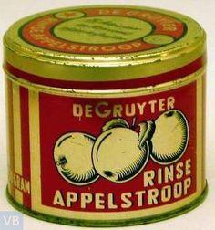 De Gruyter - Rinse Appelstroop. Ja, hoor, dat is 'm; deze appelstroop stond er vroeger bij ons op tafel!