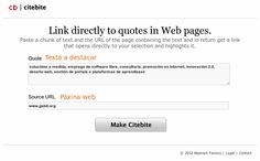 Citebite: Señalar partes de una web