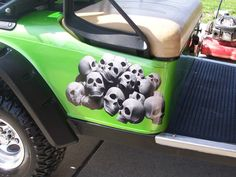 Skull Pile Graphics Set fit All Car Truck or Golf Carts EZGO club Car Yamaha Decal Decals Skulls by SuperbDecalsLLC on Etsy
