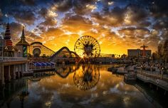 Paradise Pier - at sunset