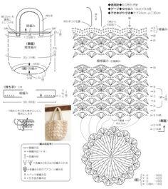 코바늘가방 도안 : 네이버 블로그 Crochet Clutch, Crochet Handbags, Crochet Purses, Crochet Edging Patterns, Crochet Diagram, Crochet Designs, Crotchet Bags, Knitted Bags, Quick Crochet Gifts