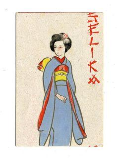 Vintage Japanese matchbox label, c1920s-1930s (posted by crackdog, via Flickr)