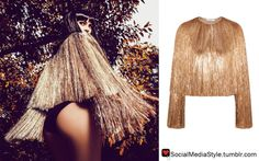 Buy Kylie Jenner's Gold Fringe Jacket, here!