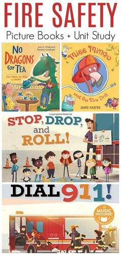 Safety Books for Children (Safety Unit Study) Fire Safety Books for Children - Picture Books! Plus Safety Unit Study Resources for Homeschool and Classroom Toddler Books, Childrens Books, Toddler Storytime, Safety Pictures, Evolution, Children's Picture Books, Fire Safety, Chapter Books, Kids Health