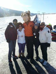 Chuck is always ready for snowtubing fun at Camelback! #MyCamelback