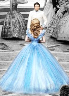 """ Lily James and Richard Madden as Cinderella and Prince Charming [X] """