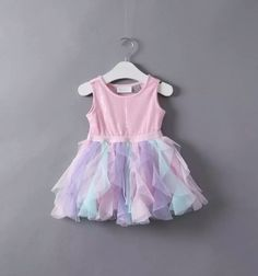 Pink unicorn dress first birthday outfit size 12months - 5t ruffles tutu dress birthday dress second birthday. Third birthday dress pink amd purple dress in corn birthday outfit cake smash