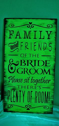 Green and Black Wedding Sign/Lime by FairytaleDecorDesign on Etsy