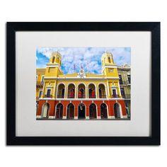 "Trademark Art ""Alcaldia de San Juan"" by CATeyes Framed Photographic Print Size: 1"
