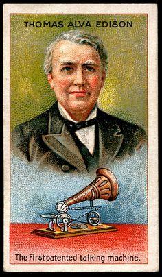 Cigarette Card - Thomas Alva Edison