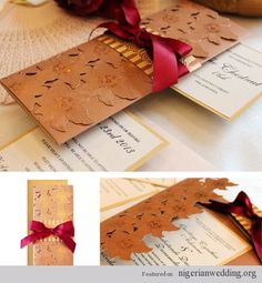Bibi invitations creates luxury wedding invitation, your quests' eyes will be drawn to no matter what. Made from rich excellent quality Kente, Aso Oke and Ankara Dutch Wax fabrics rich with patterns, texture and motifs.