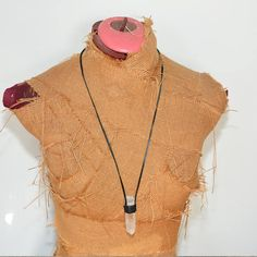 Raw Crystal necklace quartz crystal jewelry Large Quartz