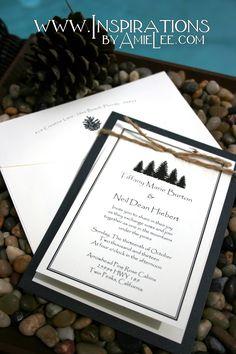 Wedding Invitations - Rustic and elegant