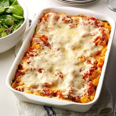 Butternut & Portobello Lasagna Recipe -Lasagna gets fresh flavor and color when you make it with roasted butternut squash, portobello mushrooms, basil and spinach. We feast on this. —Edward and Danielle Walker, Traverse City, Michigan
