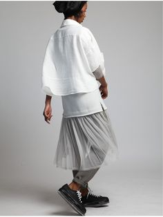 Oversize Linen Shirt by LURDES BERGADA