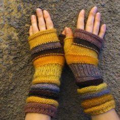 Winter-Mode-Accessoires gelb stricken Fingerlose als von dwarfs