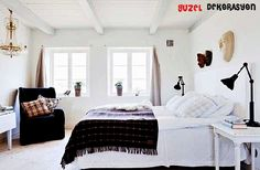, Master Bedroom Design In Vintage House White Color Themes: Simple and clean Small minimalist house design Minimalist House Design, Minimalist Home, Master Bedroom Design, Home Bedroom, Bedroom Wood Floor, Modern Rustic Homes, Swedish House, Scandinavian Bedroom, Home And Living