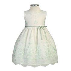 Amazon.com: Sweet Kids Baby Girls Size 24M Sage Bouquet Organza Easter Dress: Sweet Kids: Clothing
