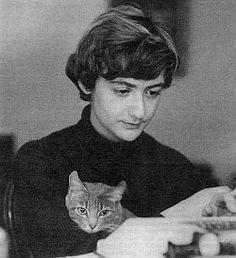"Françoise Sagan with ""Brahms"""