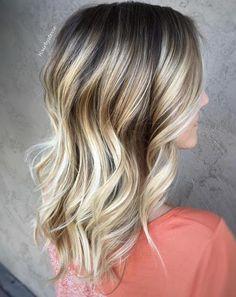Dark Brown Hair With Silver Blonde Highlights