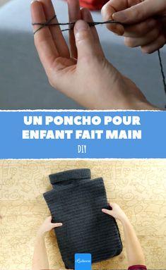 Apprenez à créer votre propre poncho pour enfant au crochet ! Ce vêtement à réaliser soi-même est accessible à tous, mais quelques connaissances de base du crochet sont requises.  #lastucerie #astuce #diy #faitmain #vetement #enfant #crochet #apprendre #tuto #poncho #pull