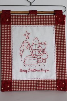 Christmas Patchwork, Christmas Sewing, Christmas Pillow, Christmas Crafts, Colchas Quilting, Quilting Projects, Christmas Embroidery Patterns, Hand Embroidery Patterns, Merry Christmas To You