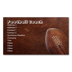 Sports Football Coach, or Team Player Business Card Templates