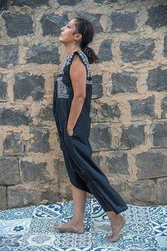 Bohemian Dress, Embroidered Dress, Kaftan Dress, Ethnic Dress, Tribal Dress, Black Kaftan, Beach Dress, Summer Dress, Cotton Kaftan