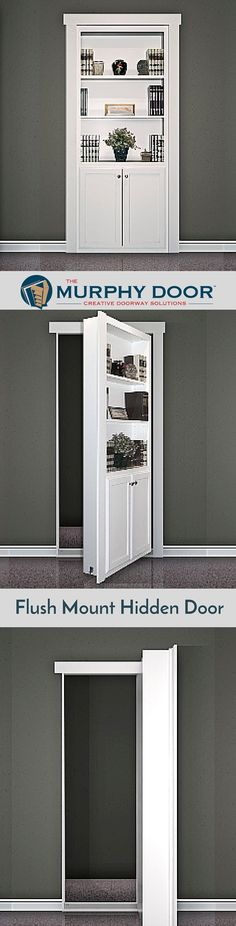 The Flush Mount Hidden door is perfect creative solution for your house.  #hiddendoor