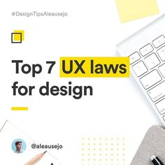 """487 curtidas, 6 comentários - UX / UI Design Inspiration (@uxbrainy) no Instagram: """"Top 7 UX Laws For Design Brain By: @ux.ale  Join UXBrainy Community and Get Free Features 👉…"""""""