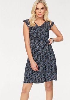 Heine Style Kleid Mit Rüschendetails Himbeere