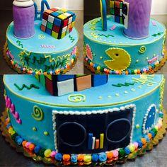 80's themed birthday cake - Mueller's Bakery!