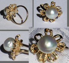 estate jewelry pearl ring