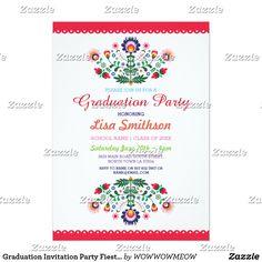 The 45 best zazzle graduation invites images on pinterest graduation invitation party fiesta mexican invite filmwisefo