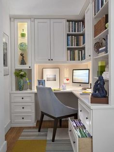 Great use of a small space for a home office