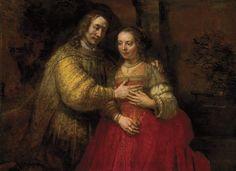 """The Jewish Bride"".  Photo credit: Rembrandt Research Project Foundation and Professor Ernst van de Weterin"