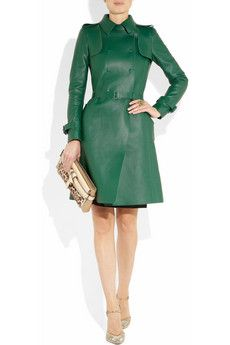 Leather Jacket // 60s 70s Jacket Gorgeous olive green leather coat ...