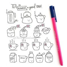 Tea anyone? A quick tea doodle More how to draw doodles at